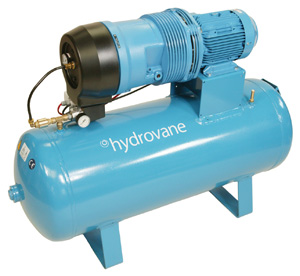Hydrovane receiver mounted rotary vane air compressors for Rotary vane air motor